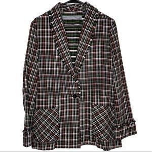Raquel Allegra Plaid Oversized Blazer Jacket